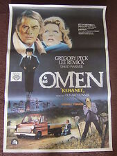 26 x 39 TURKISH POSTER - THE OMEN - 1976 - GREGORY PECK LEE REMICK DAVID WARNER