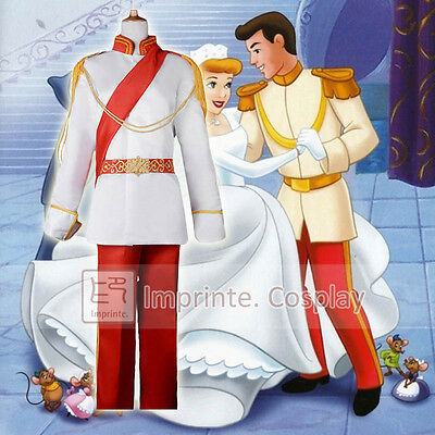 Adult Prince Charming Costume Cinderella Prince Cosplay Full Set FREE P&P