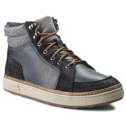 Cushioned **  UK 7,8,9,10,11,12 G Clarks Mens  ** Lorsen Top Navy Winter Boots