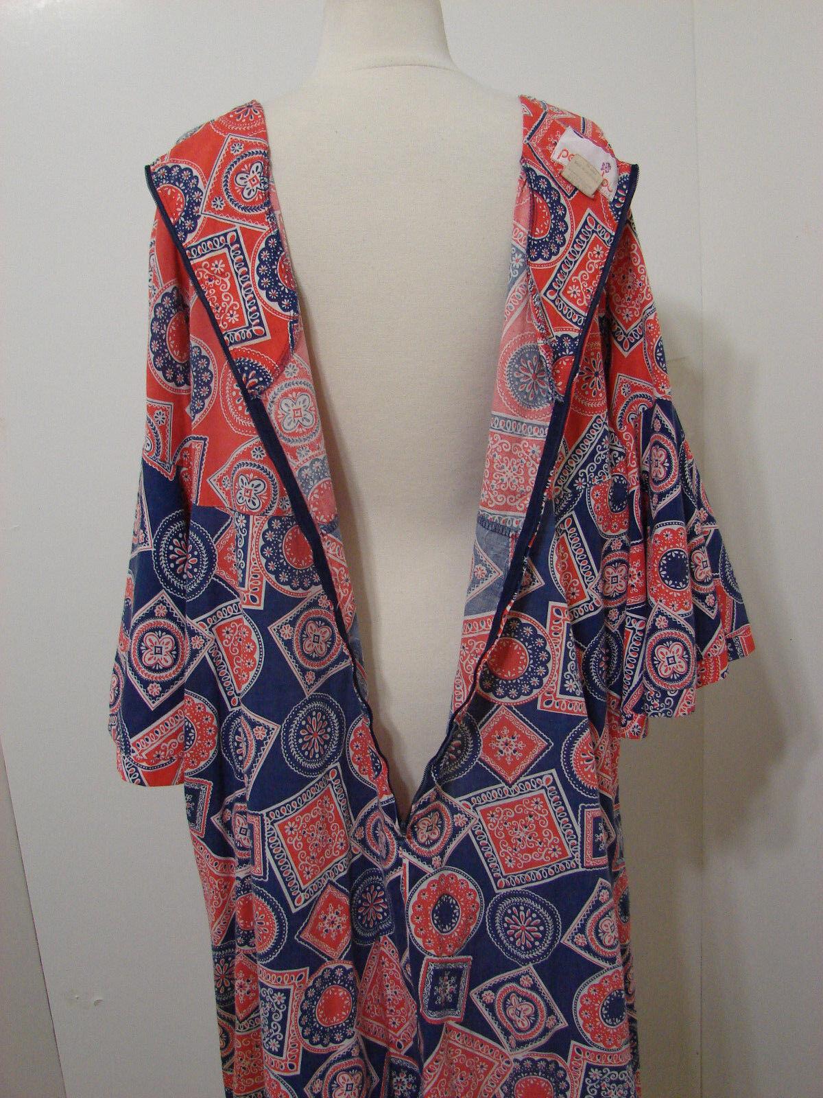 PEGGY LOU Caftan Dress Vintage 1960's Groovy Patc… - image 8