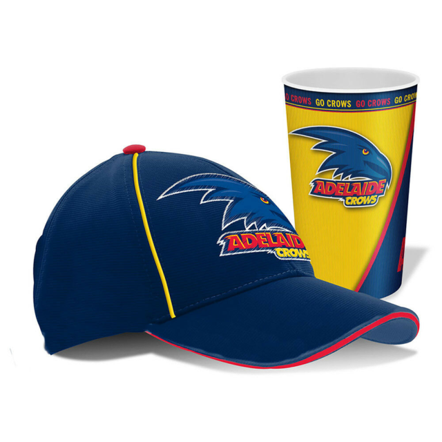 NEW Official Adelaide Crows Cap and Tumbler Pack
