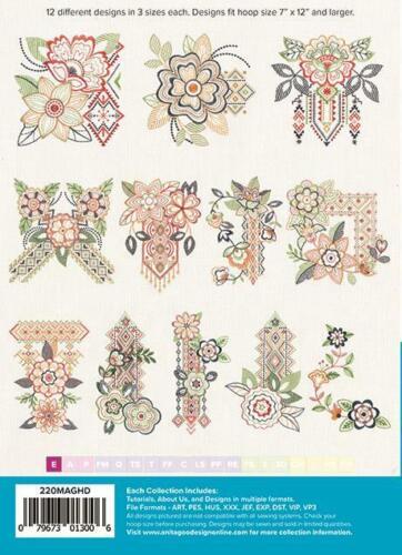 Bohemian Bouquet Anita Goodesign Embroidery Machine Design CD NEW