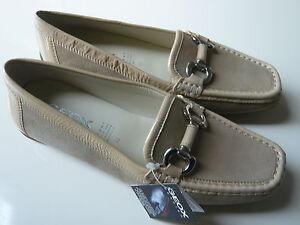 GEOX-Schuhe-Damen-Leder-beige-Gr-37-Slipper