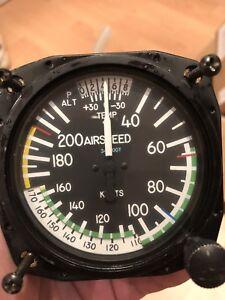 United Instruments Airspeed Ind. P/N 8125