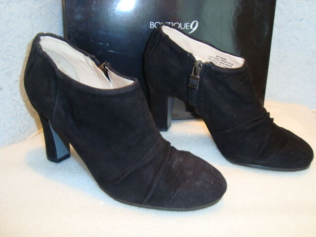 Boutique 9 Womens NWB Frank Black Ankle Boots Shoes 5.5 MED NEW