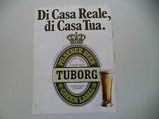 advertising Pubblicità 1980 BIRRA BEER TUBORG