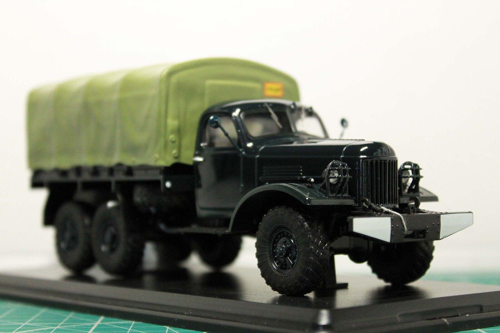 Handmade 1 43 ZIL-157 Camion avec une tente URSS 1960 pivotant de roues avant SSM1018
