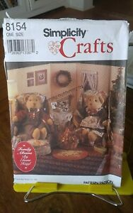 Oop-Simplicity-Crafts-Elaine-Heigl-8154-12-034-teddy-bear-clothing-furniture-NEW