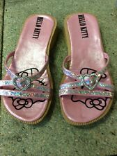 Gorgeous Pink Sparkly HELLO KITTY Mules Childs 12