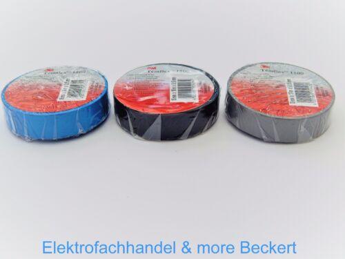 0,10€//1m Isolierband 6Farben 15mmx10m Isolier Klebeband Isoband Scotch Temflex