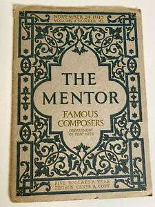 The-Mentor-Magazine-November-24-1913-Brahms-Liszt-Chopin-Famous-Composers
