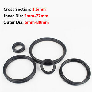50Pcs Black 21mm x 1.5mm Nitrile Rubber O Ring NBR Oil Sealing Grommets