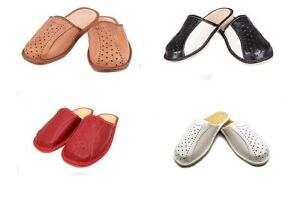 FleißIg Mens Gents Leather Slippers Slip On Shoes Size 6 7 8 9 10 11 12 Uk Mules Luxury