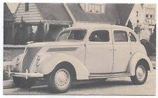 Ford V8 1937 Postcard (Period Salesmans card)