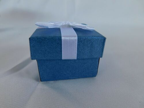 """5 Ring GIFT BOXES 1-3//4/""""X1-3//4/"""" square Satin Lined with Bow"""