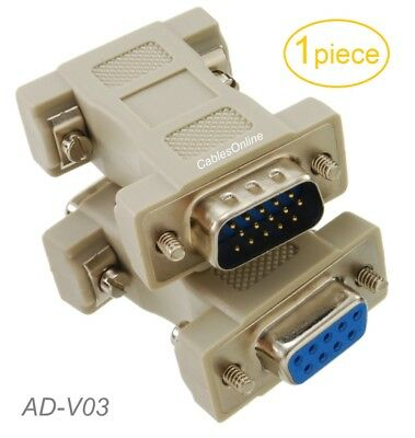 CablesOnline DVI-AM15F-E DVI-I Male to VGA 15-Pin Female Video Monitor Adapter