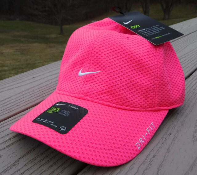 NWT NIKE Dri-Fit Tailwind Adult Running Tennis Adj Hat-OSFM BRIGHT PINK 16196457b48