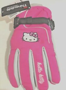 HELLO-KITTY-Girl-039-s-Ski-Gloves-with-3M-Thinsulate-One-Size-Fits-Most-4-16-NEW