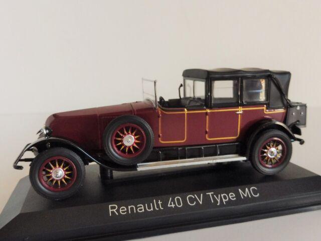Renault 40cv Type MC PRESIDENTIELLE Doumergue 1924 1/43 NOREV 519514 40 CV