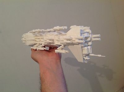 Babylon 5 Model Nova spaceship. Scale 1:4100. Unpainted. Assembled