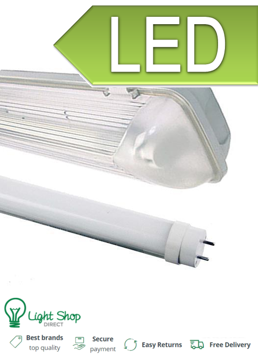 5FT SINGLE LED luce non corrosivo RACCORDO resistente resistente resistente alle intemperie IP65 Garage Strip Light 25bc0b