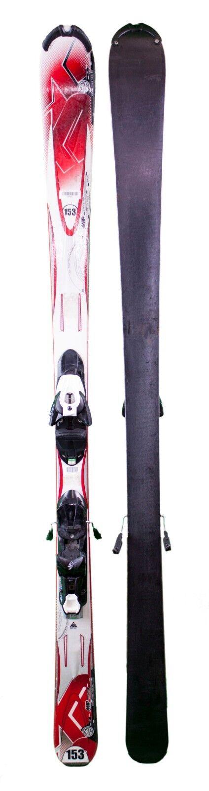 600 Adult K2 Amp Strike Skis + Salomon Z10 Bindings Größe 153 160 167 174