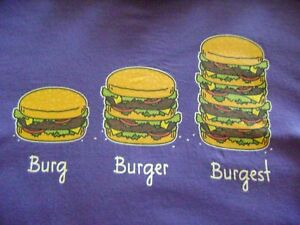FUNNY BURGER TIME ALL THE TIME FAST FOOD JOKE 100/% cotton Mens T-shirt Tee