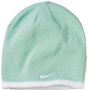 Nike Youth Reversible Beanie Junior Unisex Winter Hat Green   White ... 12388a001cc