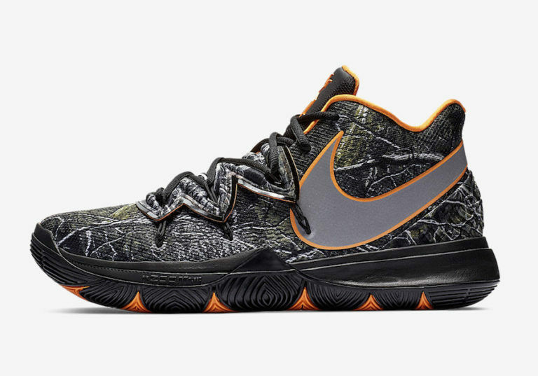 Nike Kyrie Irving 5 V Taco PE Black orange AO2918-902 Wood Camo Mens & Kids GS
