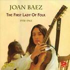 First Lady of Folk: 1958-1961 by Joan Baez (CD, Apr-2012, 2 Discs, Jasmine Records)