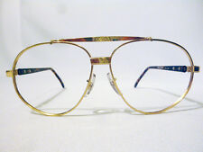 Tart Optical Regency Vintage Pilot Dbl Bridge Eyeglass Frame Gold/Brown 64-14