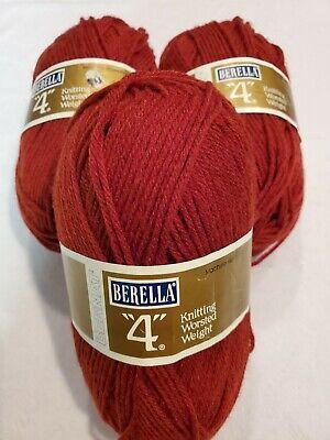 "Bernat Berella /""4/"" ~ the afghan Yarn in 4 color choices ~3.5oz 4oz~ SHIPS FREE"