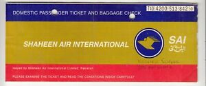 1995-PAKISTAN-SHAHEEN-AIRLINES-PASSENGER-TICKET-AND-BAGGAGE-CHECK