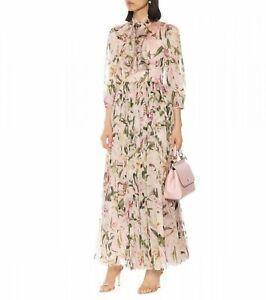 FP31-2019-Womens-Designer-Inspired-Luxury-Silk-Lily-Flower-Pattern-Maxi-Dress