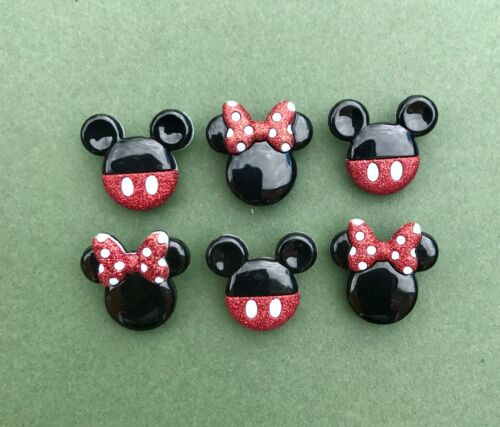 Disney Mickey Mouse Glitter Head Button Mickey Mouse Buttons Minnie Mouse Ears