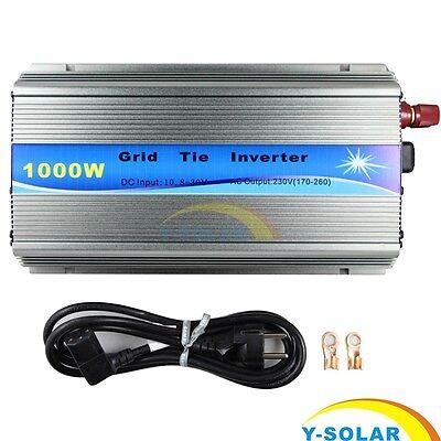 1000W Grid Tie Solar Inverter Pure Sine Wave W/ MPPT for 18V 30V 36V Solar Panel
