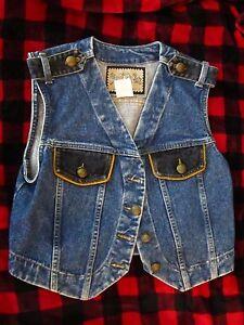 Street Carole Little Embellish 1980's Denim M Vest Wear Vintage Størrelse BxwOUqBH7