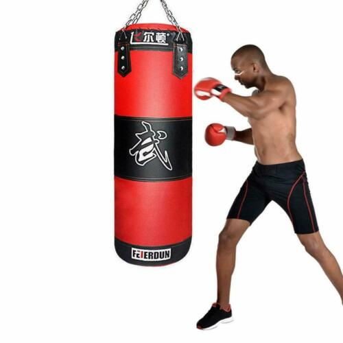 Heavy Boxing Punching Bag Training Gloves Speed Set Kicking MMA GYM Taekwondo