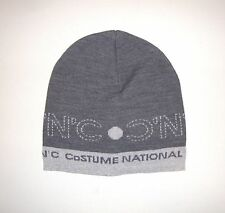NWOT Authentic C'N'C COSTUME NATIONAL Gray WOOL Blend Beanie Hat One Size