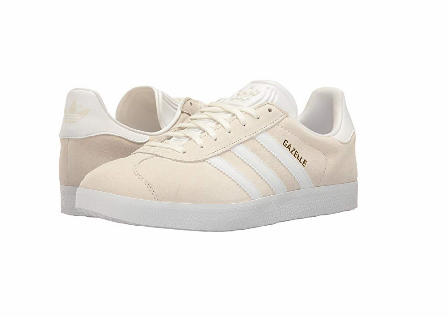 ADIDAS BA9596 GAZELLE W Wmn´s (M) White White gold gold gold Leather Suede Comfort shoes a62272