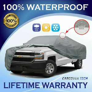 4 Layer Waterproof Full Pickup Truck Car Cover For Chevy Silverado 1500 HD CCT