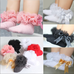 Bebe-Filles-Sweet-Lace-Ruffle-Frilly-socquettes-Princesse-Coton-Court-Chaussettes-Chaud