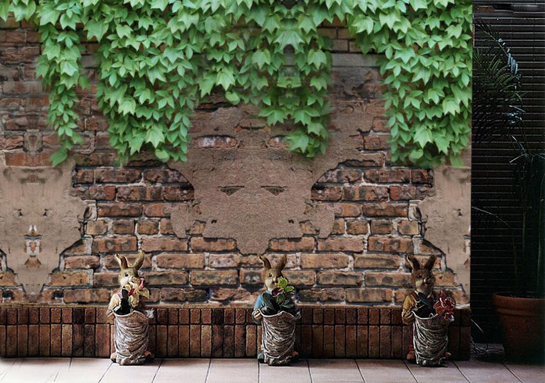 3D Vine Grün bricks Photo Wallpaper Decal Dercor Home Kids Nursery Mural  Home