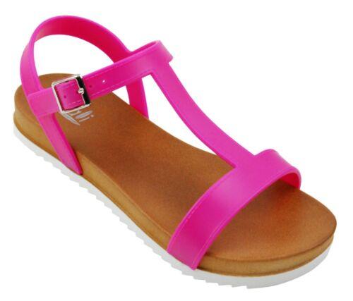 Little Girls Jr Youth Lug Sole Heels Slingback Flat Open Toe Jelly Sandals Shoes
