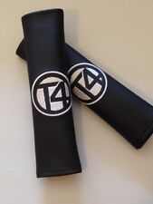 New Design VW T4 Inspired Seat Belt Pads, Camper Bus T4 T5 Beetle VW black vinyl