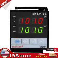 Digital Pid Temperature Controller Thermostat Thermal Thermocouple Mc101