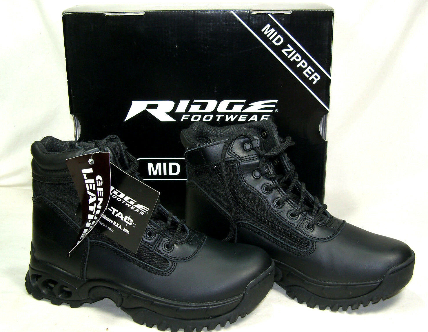 Ridge Side Zip Duty Boots for Police Military EMS - Great Motorcycle Boots