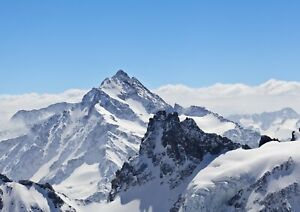 A3 Snowy Mountain Poster Print Size A3 Snow Winter Nature Poster Gift #14205