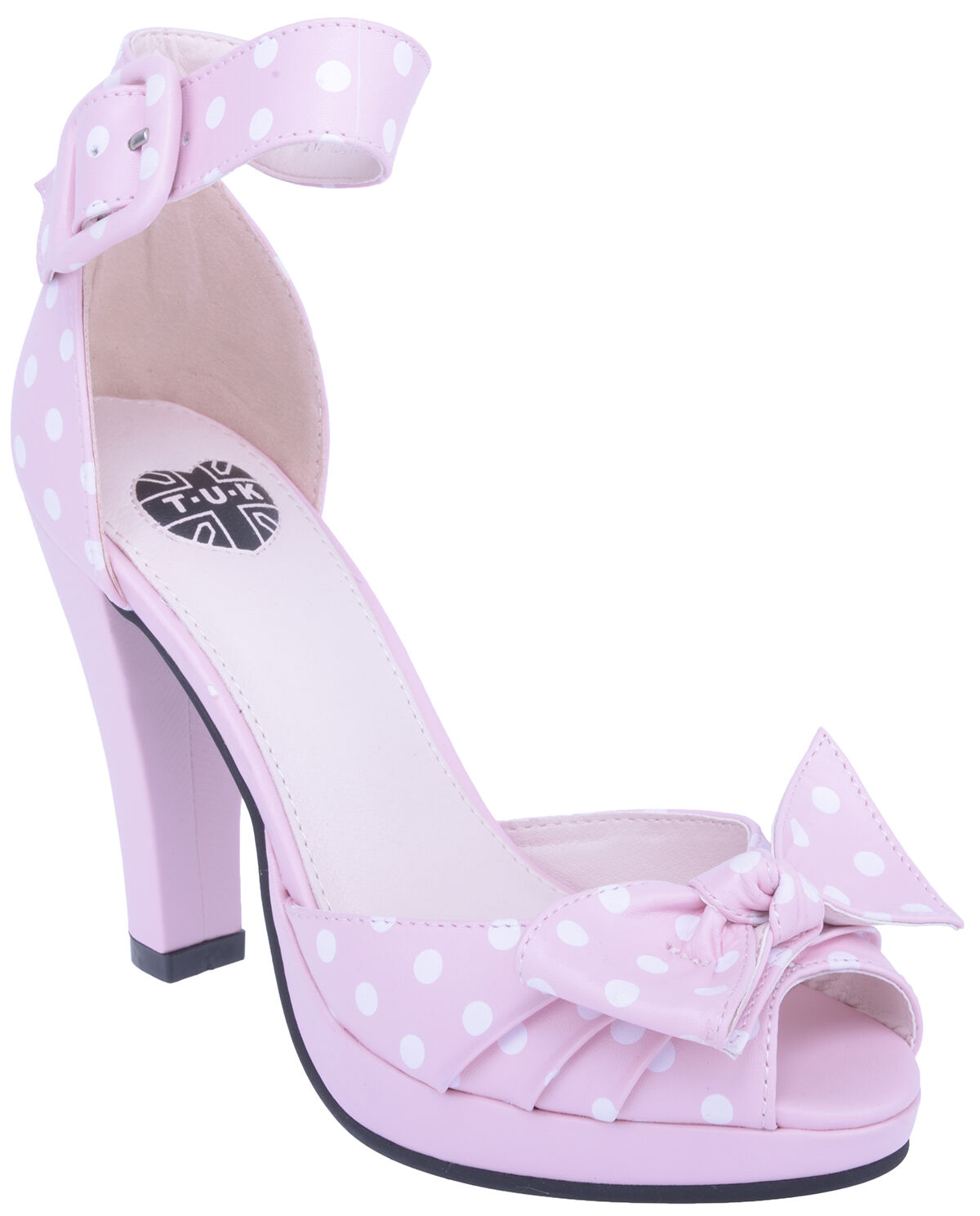 TUK STARLET Polka Dots ANKLE Riemchen BOW Pin Up HIGH Schuhe HEELS Schuhe HIGH Rockabilly 93b963