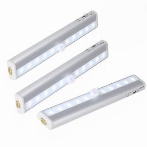 3er LED Unterbauleuchte mit Batterie Bewegungsmelder Licht Leiste ...